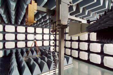 EMC semi-anechoic chamber. EMC laboratory